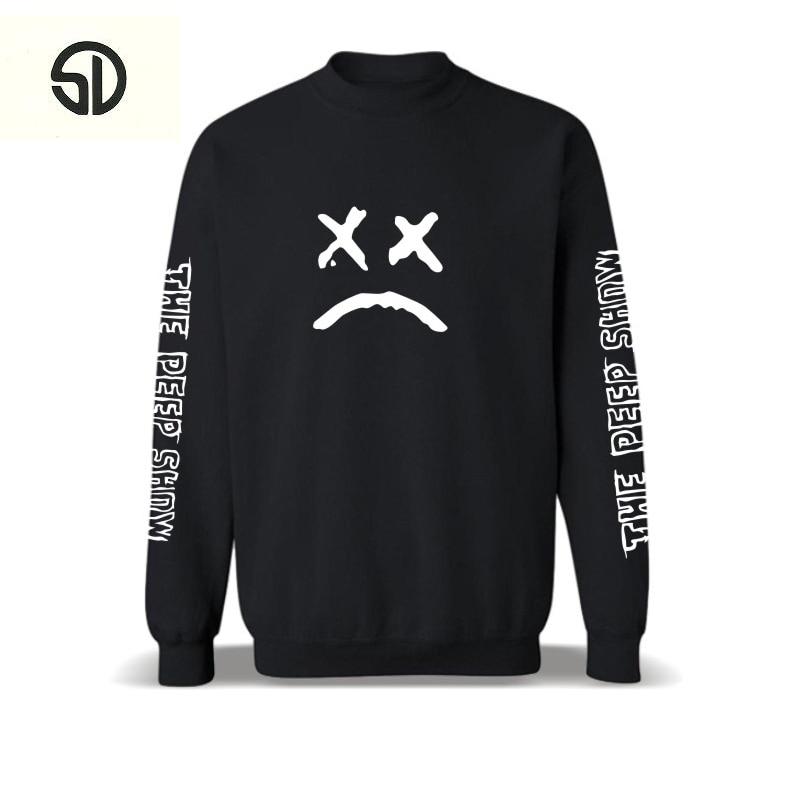 Lil Peep Mens Hoodies Streetwear Fashion Cotton Hip Hop Sweatshirt Popular Tracksuit Loose Unisex Clothes Mens Sportswear 2018