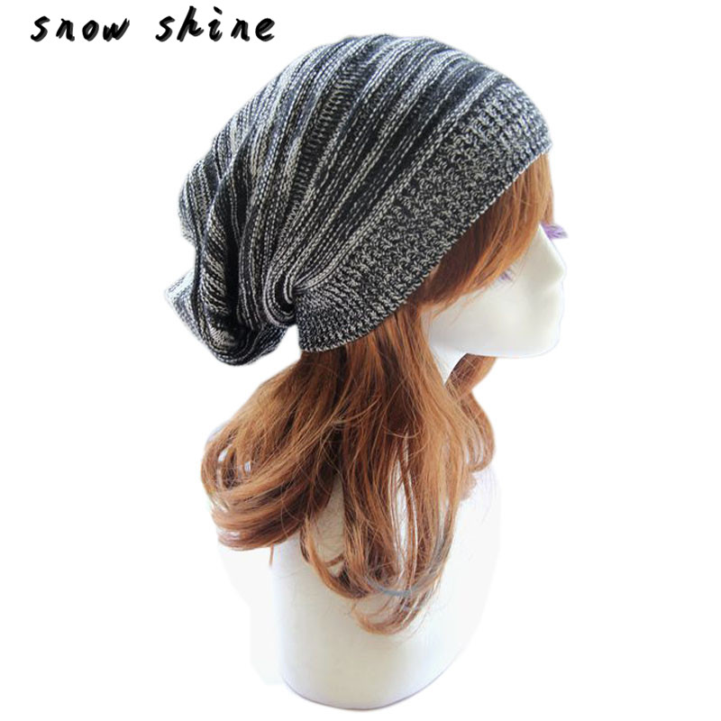 snowshine #4503  Unisex Men Knit Baggy Beanie Beret Winter Warm Oversized  Cap Hat   free shipping