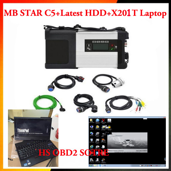 2018 Wifi Mb Star C5 Sd Verbinden Für Auto & Lkw Mit Neueste Software Dts 2019 03 Hdd Ssd Super Geschwindigkeit Mit X201t Laptop I5 2g
