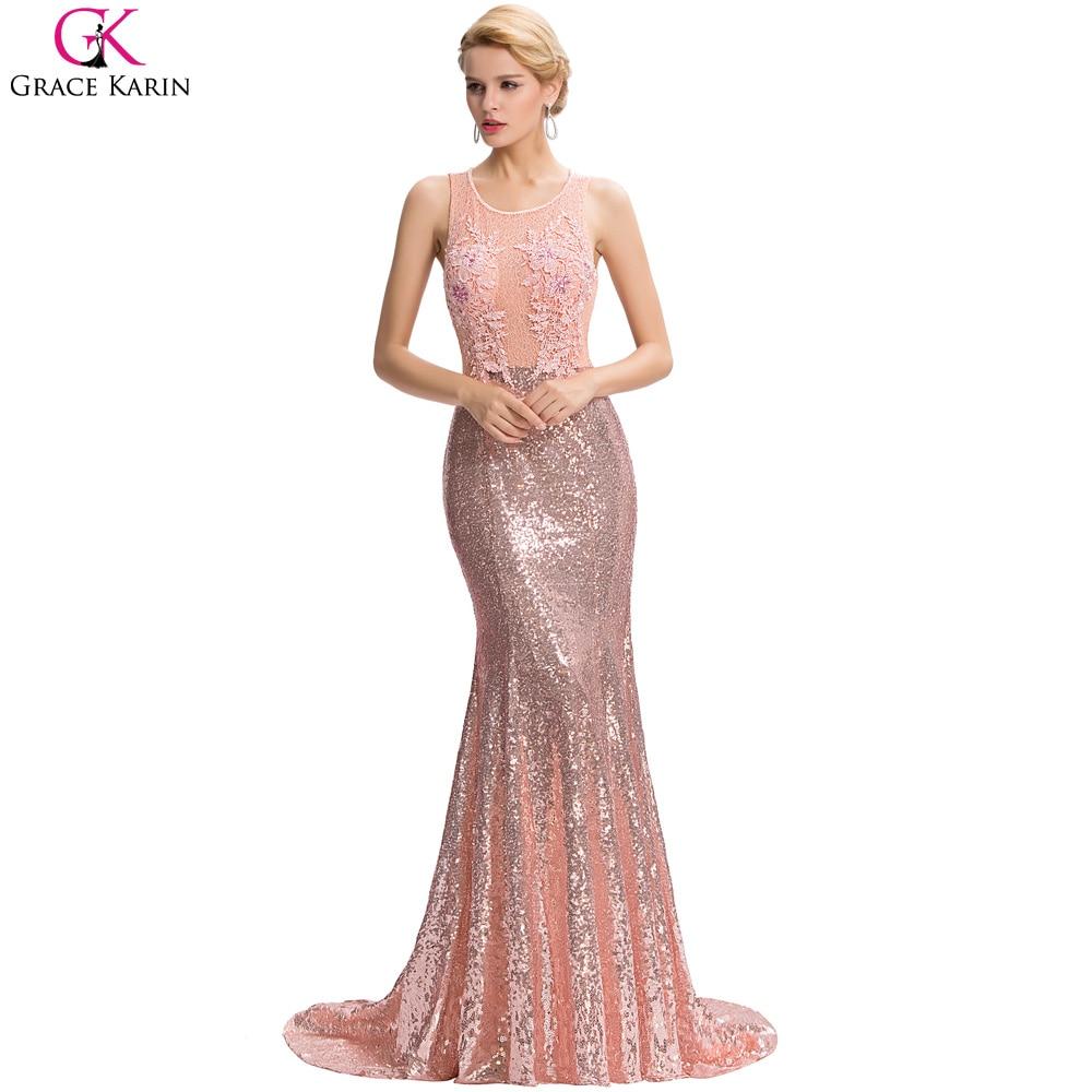 Mermaid Prom Dress 2017 Grace Karin Real Photo Sexy Backless Arabic ...