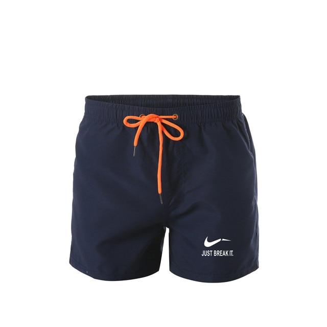 גברים של פוליאסטר מכנסיים קצרים לוח קיץ חוף מכנסיים מהיר ייבוש בגדי ים זכר לשחות מכנסיים קצרים עם אוניית בגד ים בתוספת גודל