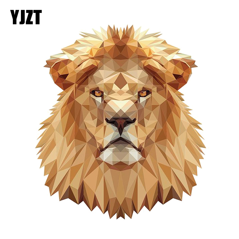 YJZT 12.6CM*14.4CM Funny Lion Head Portrait Decal PVC Motorcycle Car Sticker 11-00632(China)
