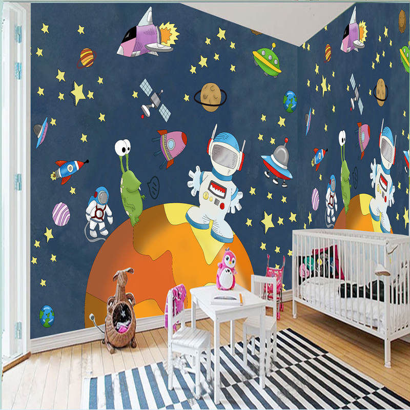 Free Shipping Large Mural Wallpaper Space Universe Blue