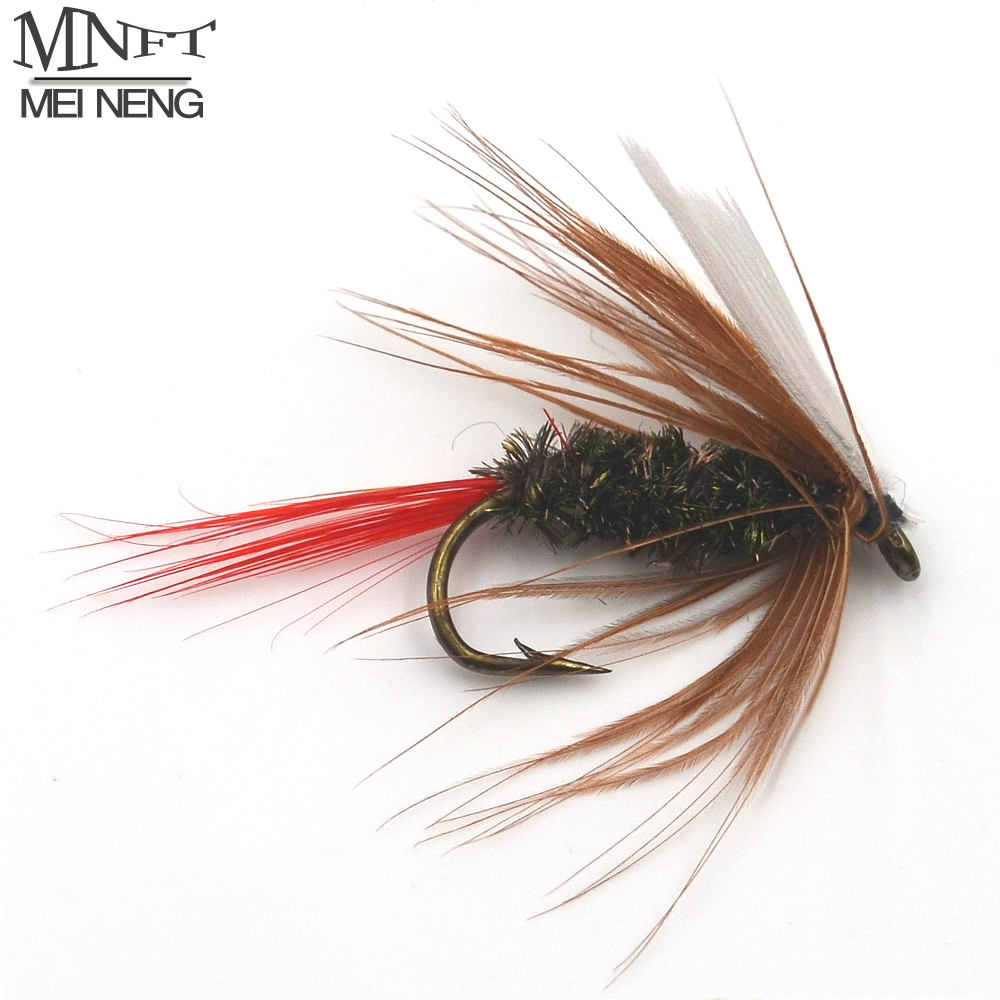 MNFT 10PCS 10# Red Tail May Fly Nymph Pheasant Herl Winged May Fly Trout Perch Fresh Water Fly Fishing Flies 12pcs 14 red tail bead head buzzer nymph fly for trout fishing lures