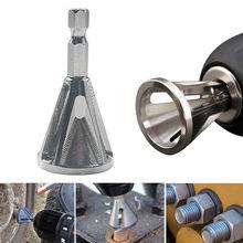 1* инструмент для снятия заусенцев с внешней фаской Серебряный CR12MOV шестигранный хвостовик инструмент для снятия заусенцев с внешней фаской