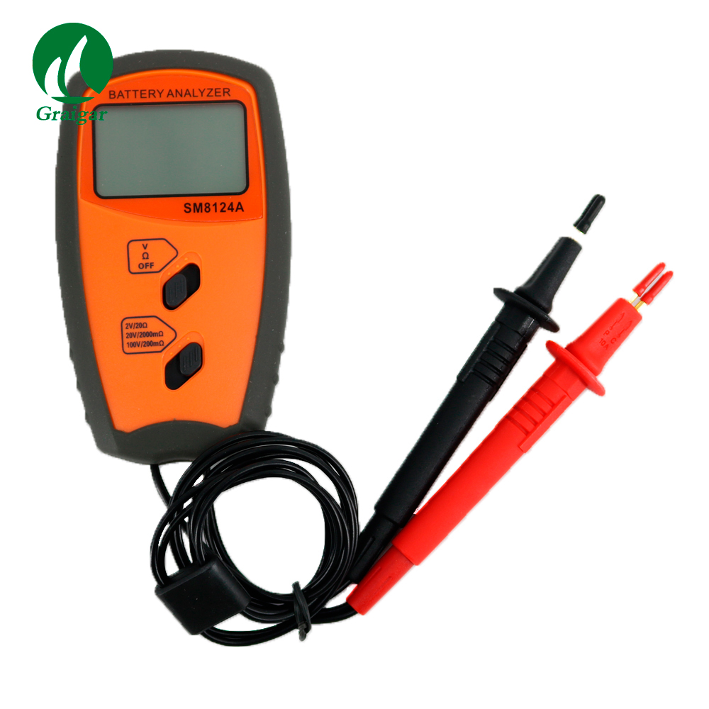 SM8124A Battery Impedance Meter Vehicle Rechargeable Lithium-ion nickel-hydroxide internal battery resistance Tester Voltmeter sm8124a battery impedance meter vehicle rechargeable lithium ion nickel hydroxide internal battery resistance tester voltmeter