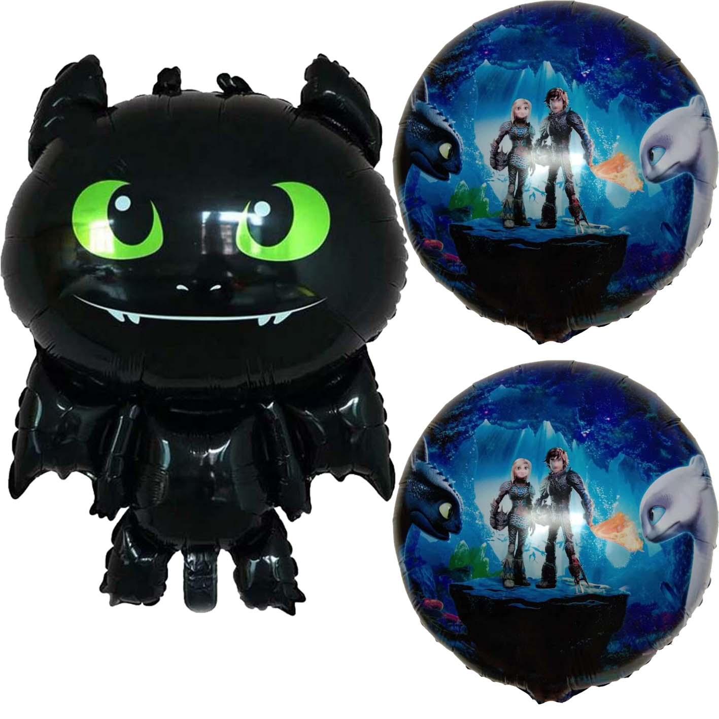1 Pcs How To Train Your Dragon Balloon Big Black Dragon Toothless Ballons Deco Birthday Party Baby Boy Theme Hero Decoration Toy