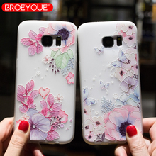 BROEYOUE Case For Samsung Galaxy A5 2017 J5 S9 S7 Edge S8 3D Relief Silicone Cover Plus Cases