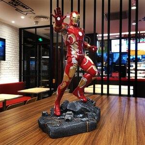 Image 2 - O vingador mk43 homem de ferro 1/4 escala corpo inteiro 50 cm estátua decoração para casa collectible figura ação resina estatueta presente para homem menino