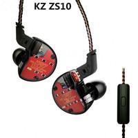 KZ ZS10 4BA 1DD Hybrid 10 Driver Units In Ear Earphone Dynamic Armature Earbuds HiFi DJ