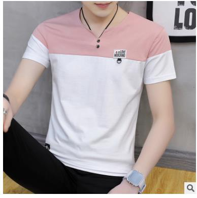 2018 Solid color T Shirt Mens Black White T-shirts Summer Skateboard Tee Boy Hip hop Skate Tshirt Tops Hop WQ-25