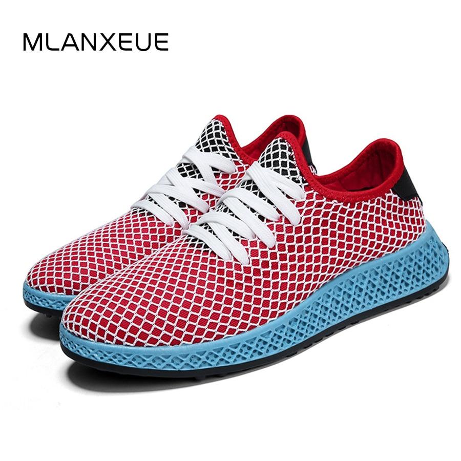 MLANXEUE Autumn Fashion 3D Mesh Men Sneakers Shoes Men 2108 Slipon Breathable Casual Students Shoes Plus Size 39-44 Male Shoes 2108