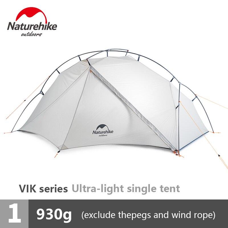 Tente unique Ultra-légère extérieure naturetrekking Camping 15D Nylon Double y-forme imperméable Portable en aluminium monocouche tente