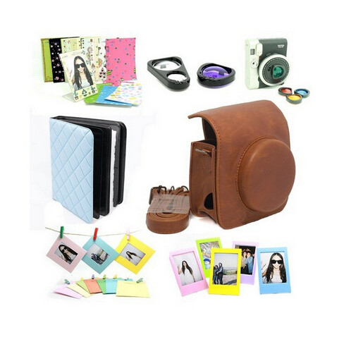 CAIUL Instax Mini 90 Case Bag Fujifilm Instax Mini 90 Instant Camera Accessory Bundles Set free shipping