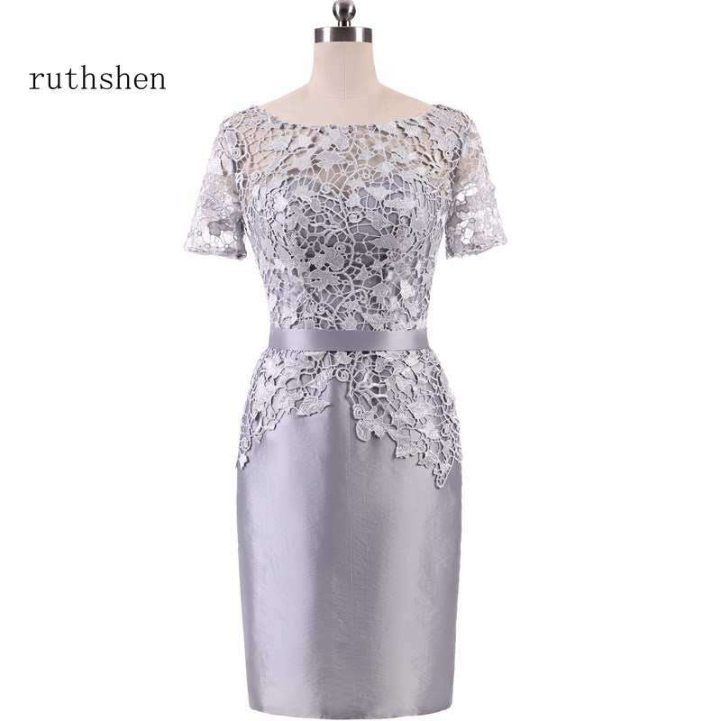 ruthshen Best Selling Mother Of The Bride Reflective   Dress   Wedding Party   Evening     Dress   with Appliques Vestido De Madre Novia