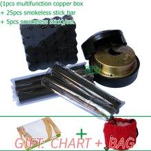 Wholesale & Retail Traditional moxibustion tool multifunction beauty health smokeless moxa set 33pcs/set