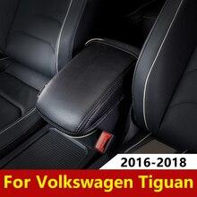 Кожа автомобиля подлокотник Pad обложки консоли сиденья авто подлокотник Pad защиты подушка коврик для Volkswagen VW Tiguan mk2 2016 2017 2018