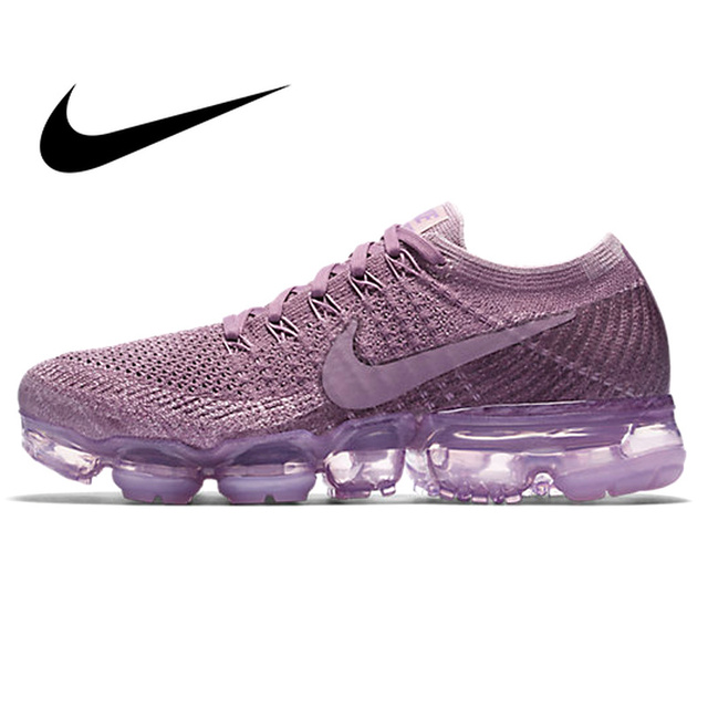 Original Authentic Nike Air VaporMax Flyknit Women s Breathable Running  Shoes Outdoor Sneakers Good Quality 2018 New 949b8fc6a