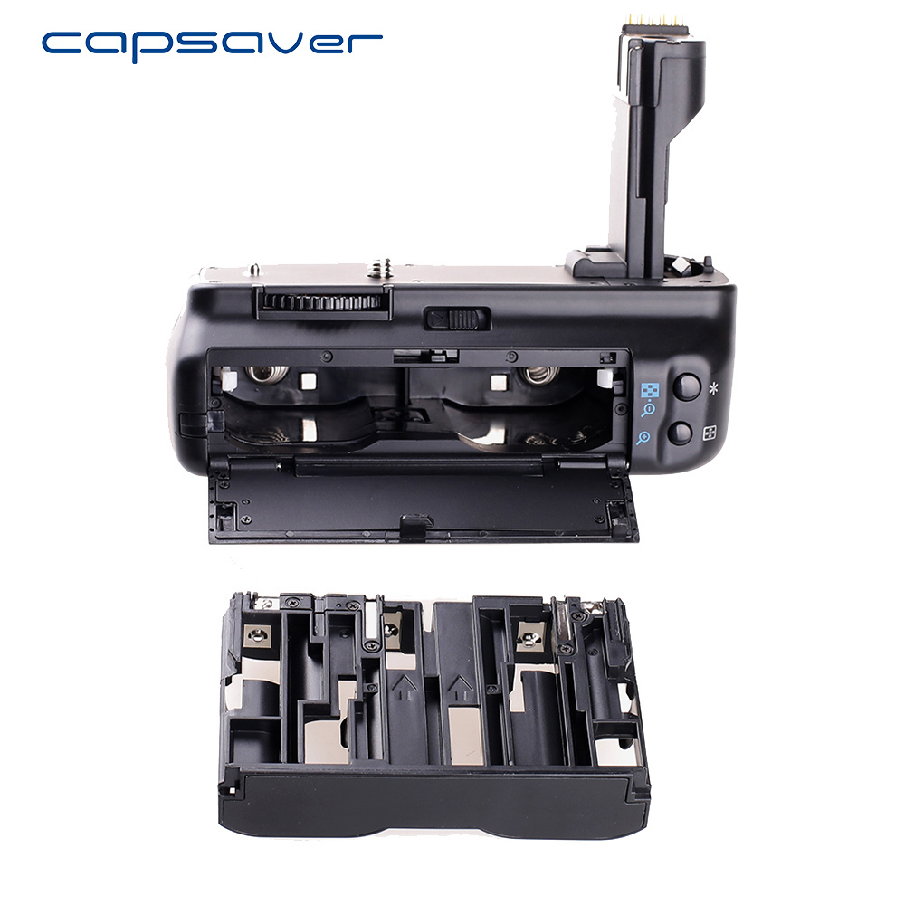 capsaver Vertical Battery Grip for Canon EOS 50D 40D 30D 20D Camera Replace BG-E2N Multi-power Battery Holder Work with BP-511 bp 511 bp511 camera battery 1x charger for canon eos 30d 20d 10d 300d d60
