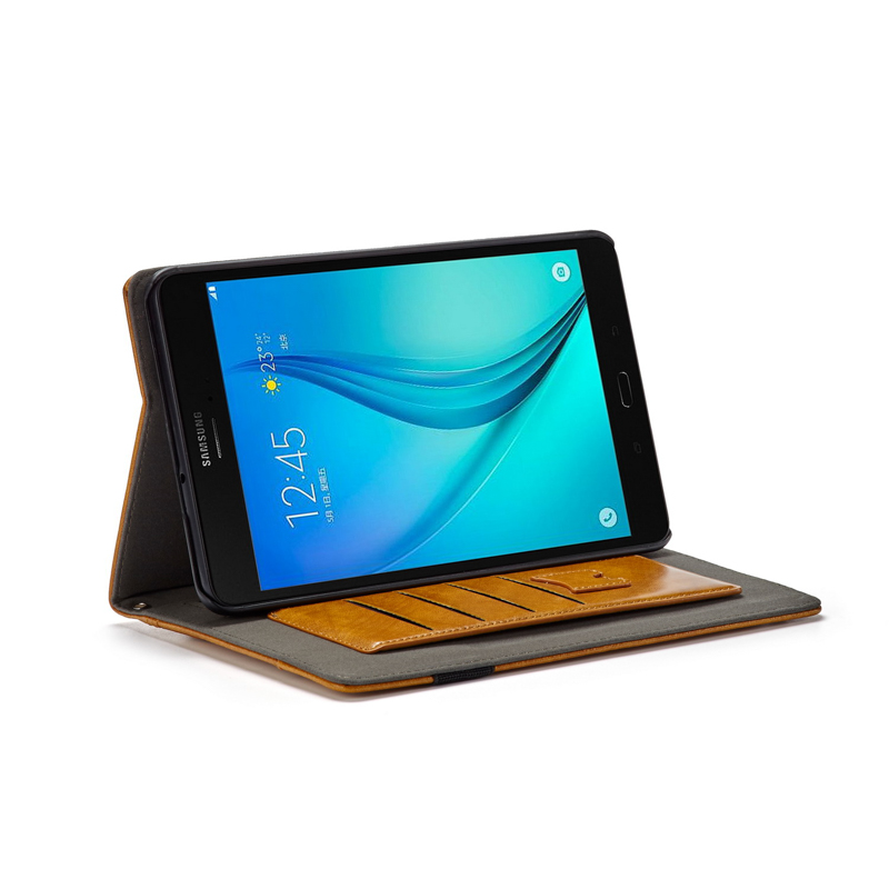 Table Case For Samsung Galaxy Tab A 8.0 2017 Case T380 T385 Anti-Knock With Card Slot Wallet Bracket Back Cover Prorective Shell