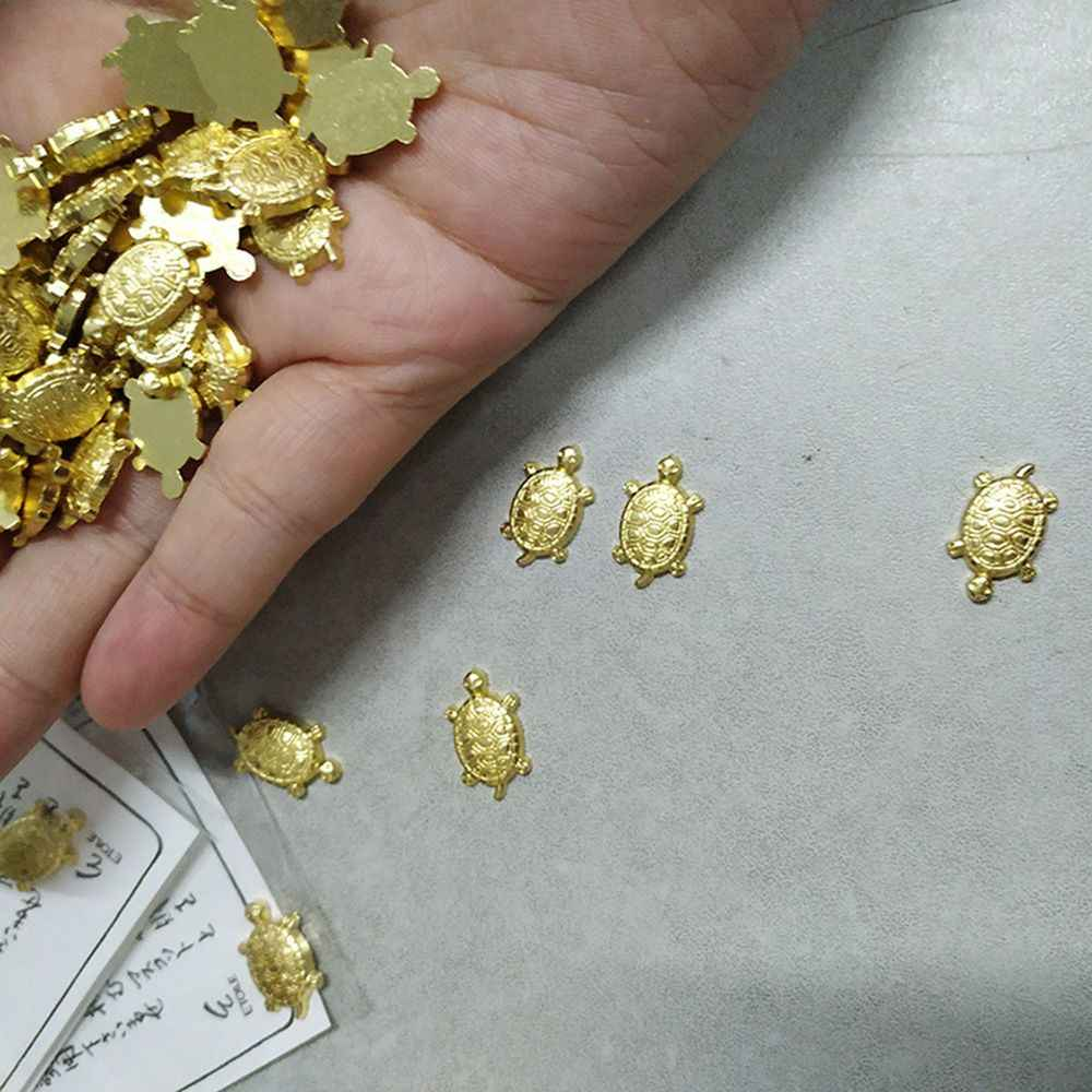 日本マネー亀浅水池ジュエリー寺装飾品ゴールド亀幸運ラッキー商品装身具財布クリップ