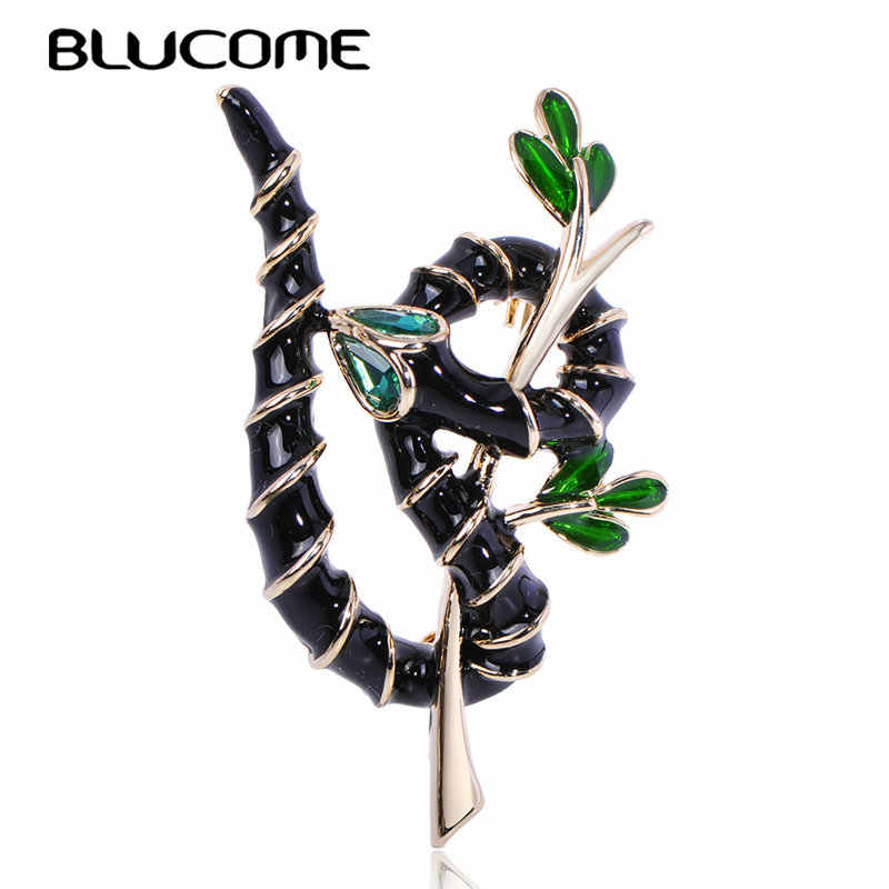 Fashion Brooch Animal Snake Surround Branch Shape Fine Enamel Crystal Jewelry For Man Women Clothing Scarf Skirt Pin Accessories