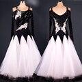 2016 de Alta Qualidade One piece-Vestido de Dança De Salão Dança Moderna Desgaste Desempenho Preto Branco