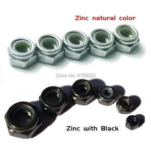 50Pcs DIN985 M2 M2.5 M3 M4 M5 M6 M8(2pcs) Galvanized Carbon Steel plating Black Zinc Self-locking Nut Hex Nylon Lock Nuts