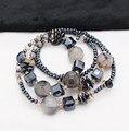 Nova origianl impressão dragão ágata natural pedra de cristal longos colares para as mulheres declaração de moda jóia brilhante frete grátis