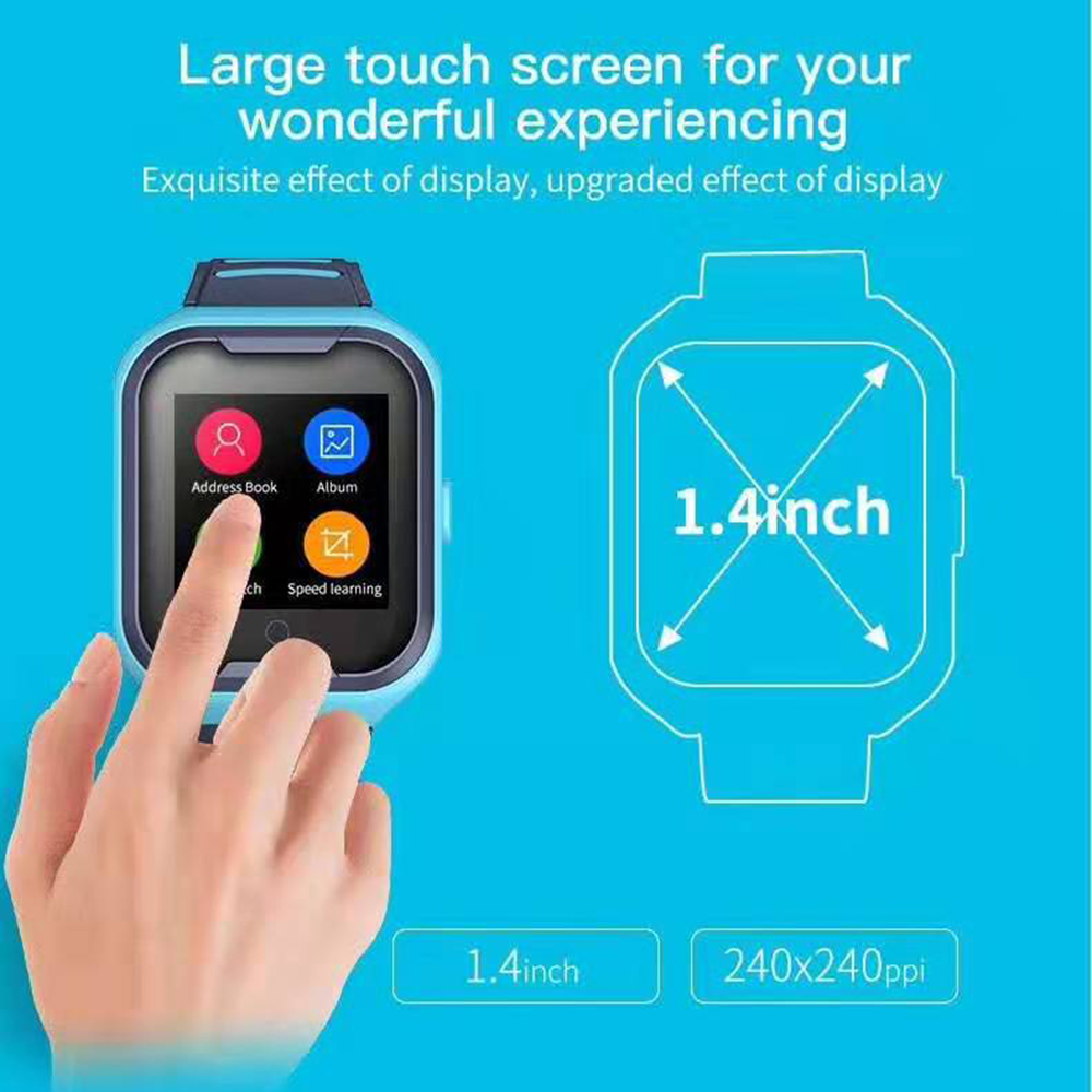 lemfo g4h 4g kids smart watch with gps wifi ip67 waterproofness 1.4 inch display and camera