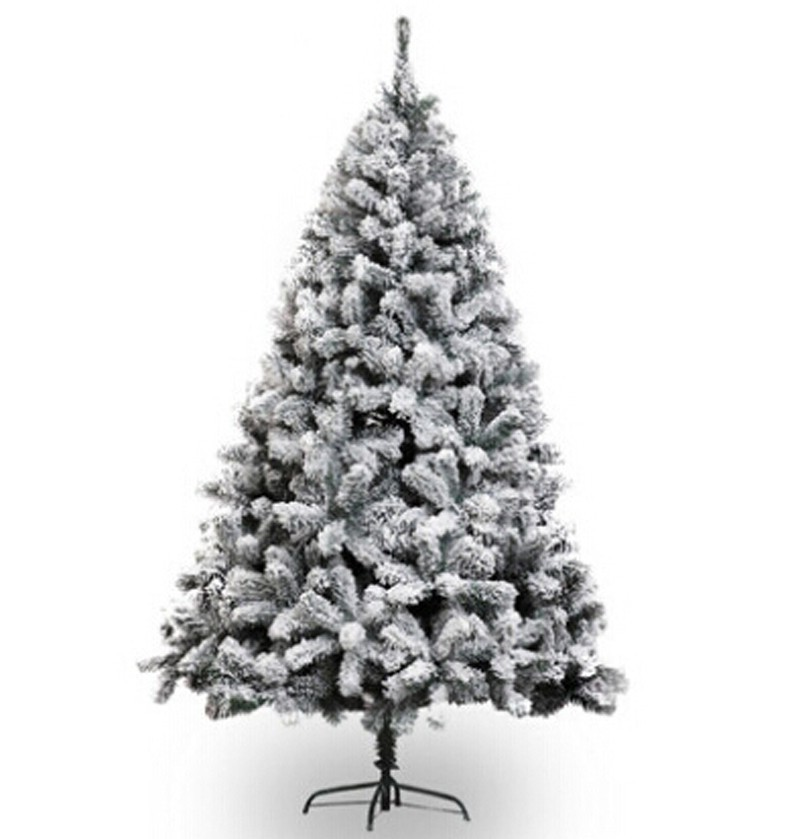 Free Shipping Christmas Xmas Tree 210cm Height Heavy Snowed Pine Artificial Christmas Tree w/Stand -Snow
