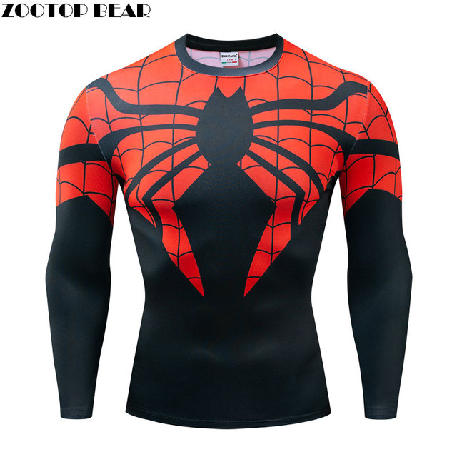 US $9.36 31% OFF|Spider The 4 Men Casual Shirt Fitness Long Sleeve Endgame Compression Marvel Male T Shirt ZOOTOP BEAR|T Shirts| AliExpress