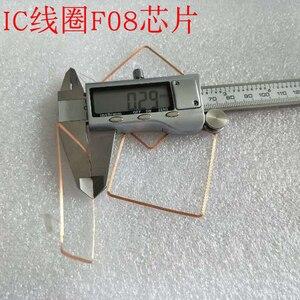 Image 2 - 13.56MHz HF COB et antenne IC bobine de soudage domestique Fudan F08 puce RFID étiquettes 49*49*0.3mm 14443A