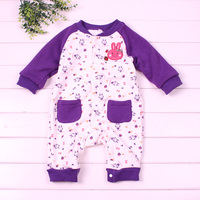 Baby Girls Rompers Autumn Newborn Baby Rompers Print Rompers With Down 2015 Good Quality Baby Girls