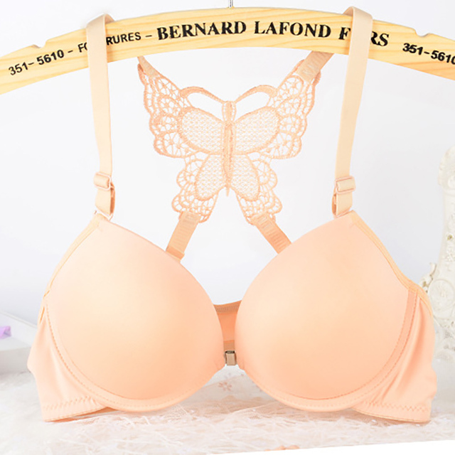 46c6d638d226e Sexy Intimate Lace Bra Front Closure Lingerie Genie Bra Brassiere Push Up  Bralette Bras For Women Underwire Underwear  D