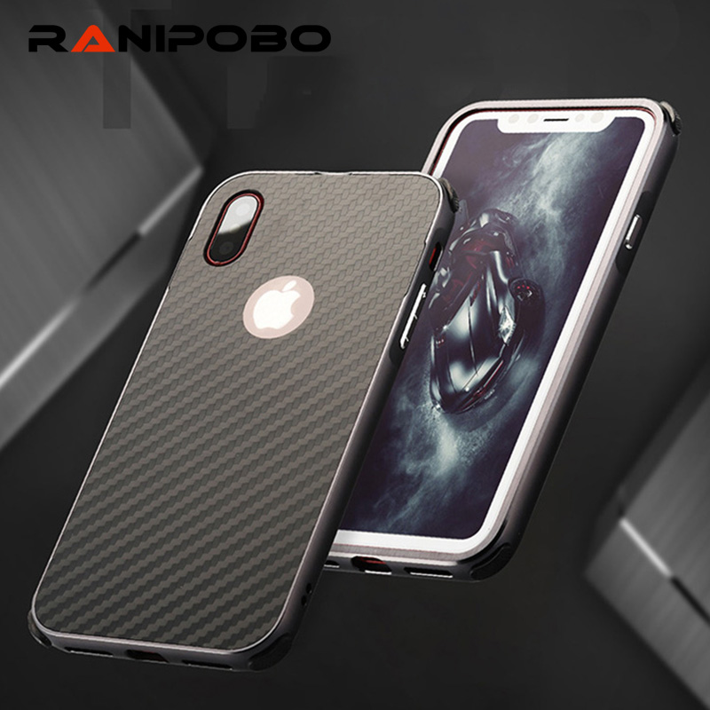 3 in 1 Aluminum Alloy Metal frame Case For Apple iPhone 7 Plus 5.5 inch Armor Hard Back Case For IPhone7