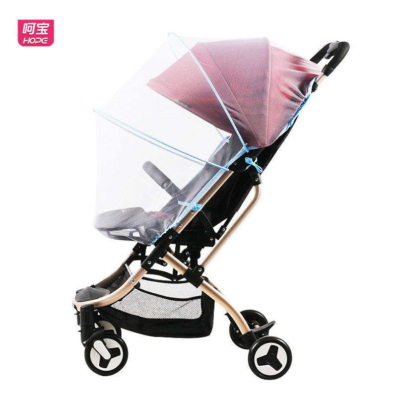 Baby Stroller Pram Mosquito Net Full Cover Universal 3D Bracket Mosquito Shield Net High Landscape Baby Umbrella Car Accessories