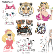 ZOTOONE Iron on Transfer Patches Clothing Diy Stripes Patch Heat for Clothes Decoration Stickers Kids Gift G