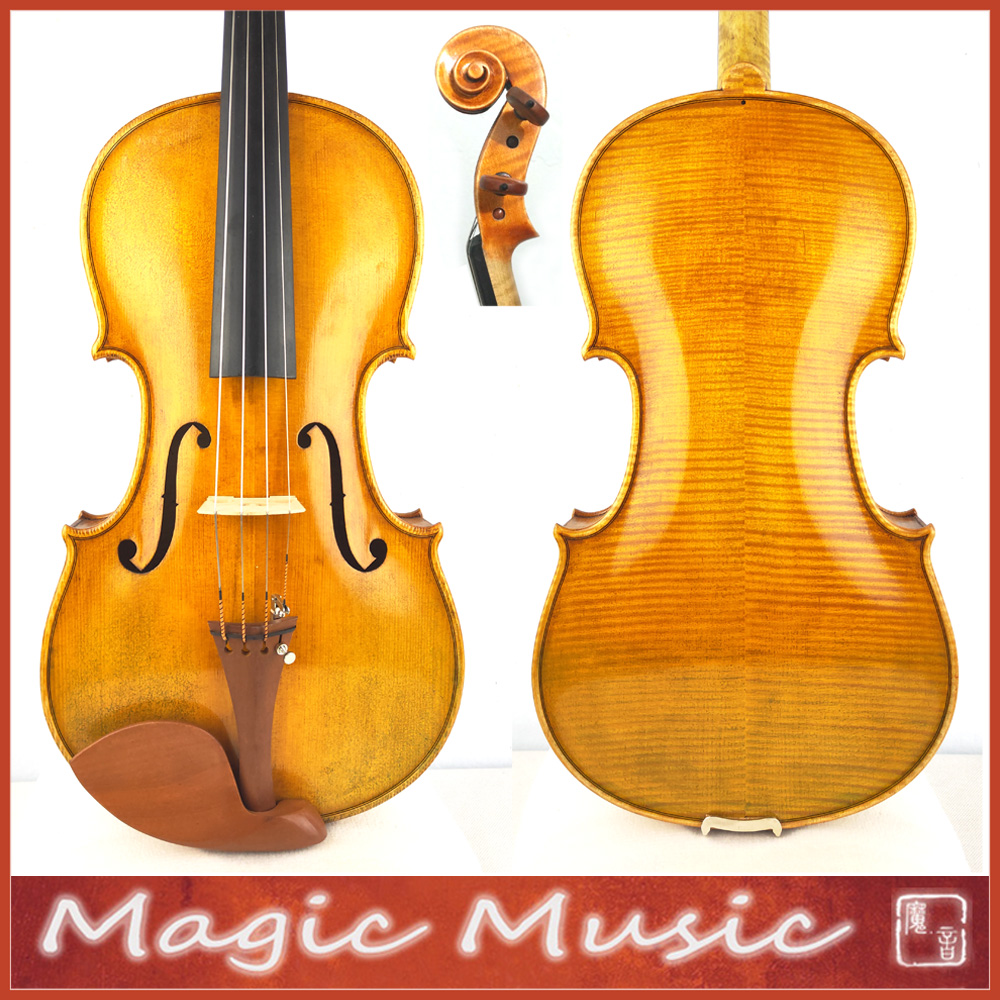 50 Years Old Spruce! The Harrison Amati Viola Size 16.5 Inch, Amati Model & Handmade Oil Varnish