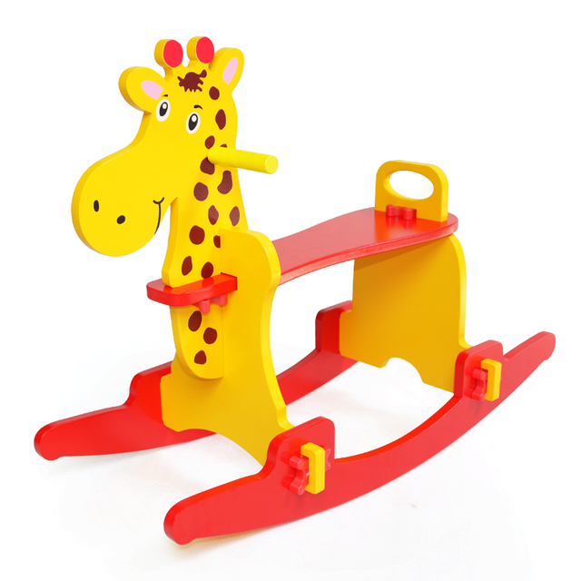Bon Wooden Rocking Horse Toys Child Chair Kids Furniture Rocking Horse Toddler  For Kid 1 3
