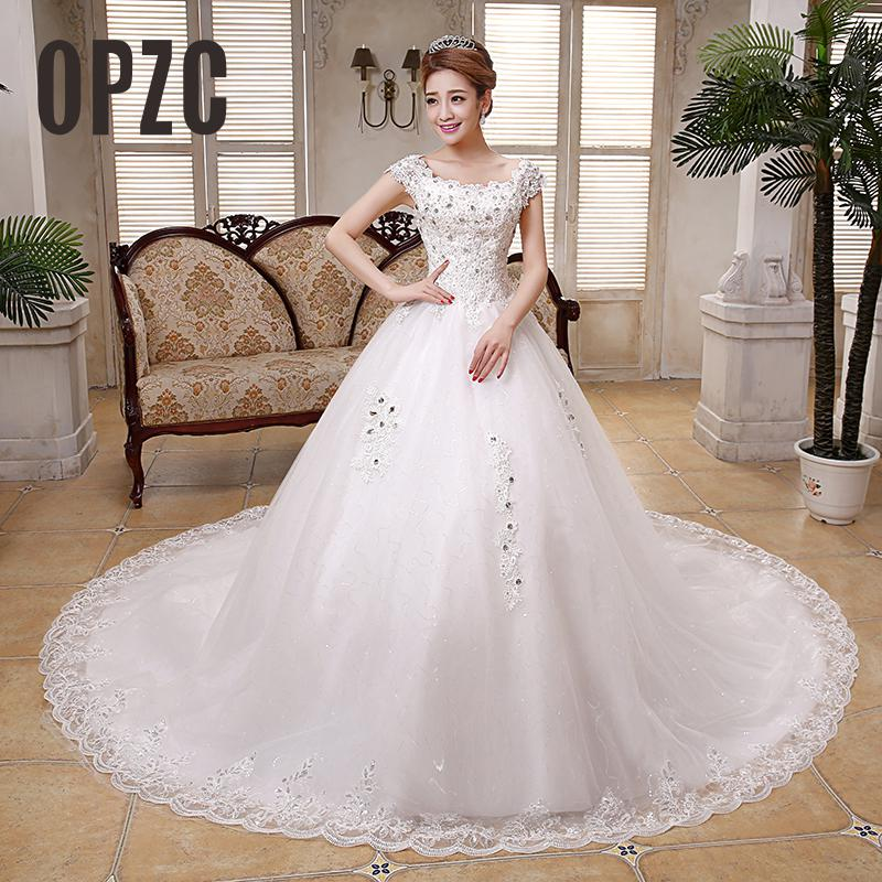 Women Grils Retro Embroidery 2M Big Long Train Wedding