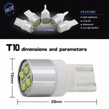 NEW High Quality 4 Piece CREE-XBD Chips Led 20W T10 W5W Parking Side Lights LED Bulbs (Ceramic and Aluminum)