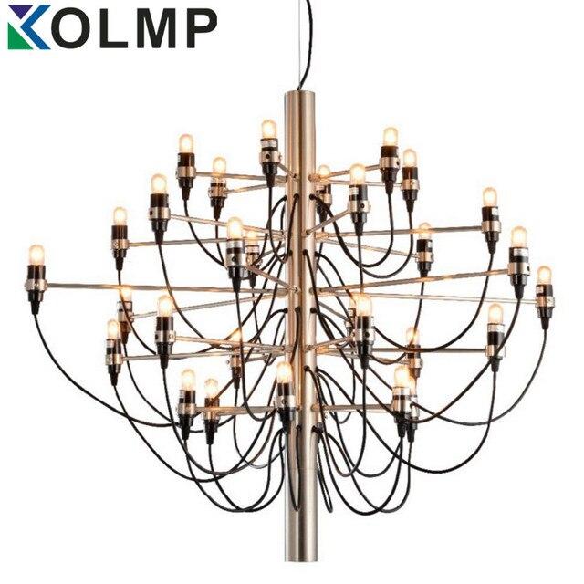 Gold/Chrom Kronleuchter Sarfatti Moderne Dekoration 18/30/50 Lampen  Entwickelt Kronleuchter Wohnzimmer