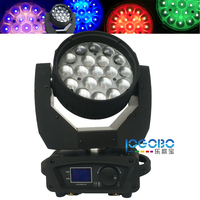 China Moving Heads DJ Equipment 19x12W RGBW LED Washing Stage Washer Lighting for Balls, Parties, Bands DJ Equipment, 4 PCS/LOT