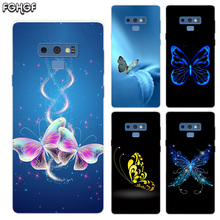 Cartoon Butterfly Transparent Soft Print Hull Shell Case For Samsung Galaxy Note 8 9 5 4 3 C5 C7 C8 C9 Cover