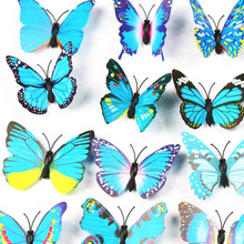 3D Butterfly Wall Decor Artificial Insect Decorative Stickers Home Decor Colorful Bathroom Sticker Decal Sticker Wall Sticker high quality 3d colorful butterfly shape removeable wall stickers