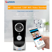 DANMINI Wireless Doorbell HD 720P WIFI Video Doorbell Night Vision Two Way Audio Door Video Intercom