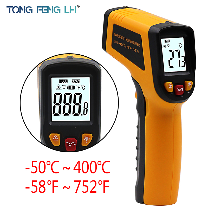 Digital Infrared Thermometer Professional Non-contact Temperature Tester IR Temperature Laser Gun Device Range -50 to 400C цена