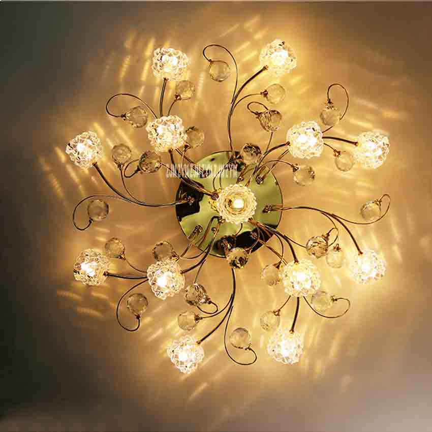 Creative Nordic Modern Minimalist Ceiling Lamp MX8342-13 Crystal Remote Control LED G4 Light Living Room Bedroom Ceiling Lamp