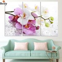 Moderne Toile Peinture Mur photo 3 Pcs Rose Fleurs Mur Art Picturome e oraHDection Salon ou Chambre